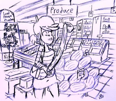 In the Grocery Store by cartoon56