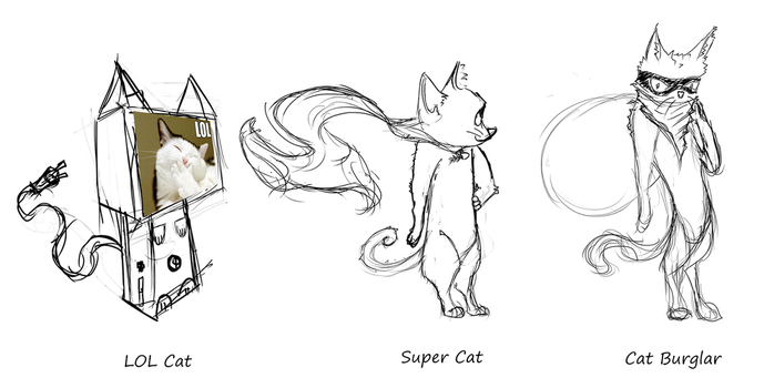 LOL Cat,Super Cat,Cat Burglar by SweetShark