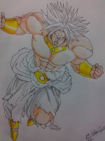 Broly .. in progress.. by HBitwill