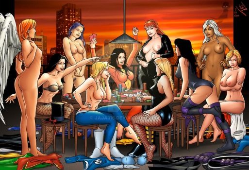 superhero strip poker 2 by Jaja316