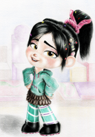 Vanellope - Ya Think You Can beat Me? by artistsncoffeeshops