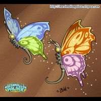 Mariposas de Vector by baby-marshmallow
