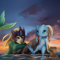 [CM] Nami and Fizz by AquaLeonhart