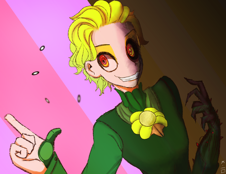 Human Flowey 2 by Xarra-Lotus