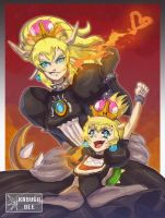 Bowsette and Lil Bows by KasugaBee