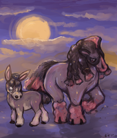 GenVIItober: Mudbray and Mudsdale