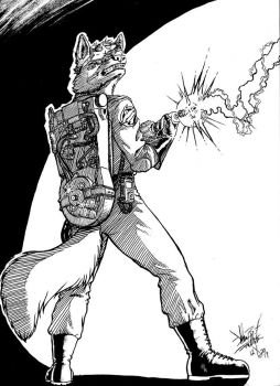 MFF17 - Border Commission - Ghostbuster Wolf Inks by Pegasus316