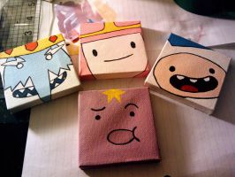 Adventure Time - Faces on Canvas by Hatpire