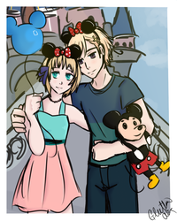 NorLiech Disneyland Date by GluttonAra