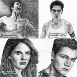 Teen Wolf - Sketches set 1 by Sharsel