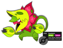 Scentoxic - Flower Fakemon by TheBlueFlames