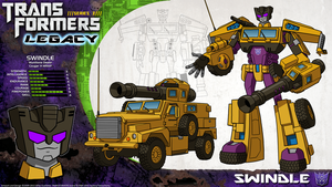 Transformers Legacy: Swindle by CyRaptor