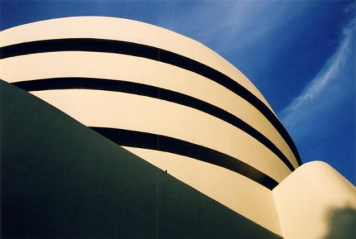 Guggenheim at Dusk--2004 by Jellifluous