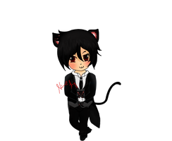 chibi : nekoo sebby -one hell of a cat- by SterlingAng3l
