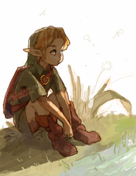 LoZ: Resting by saltycatfish