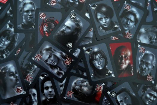 GAME OF THRONES PLAYING CARDS SPREADED by MarinaPacurar
