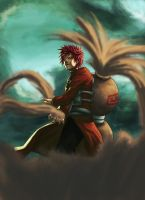 Angry Gaara by UVER