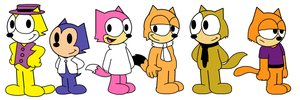 Top Cat and his gang - Felix the Cat style by MarcosPower1996