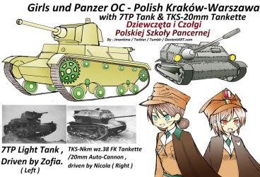 Girls und Panzer - Polish OC's Concepts by jmantime-is-Here