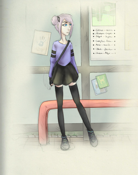 Bus Stop by Lonycell