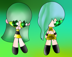 Some Of My Old OC's: Britney and Britaney by Sonny122