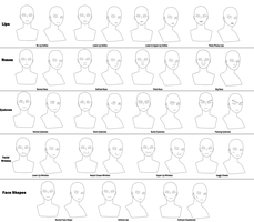 Naruto Character Guide: Facial Features by anniberri