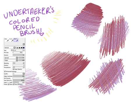 Colored Pencil Brush [paint tool sai] by HONEYxPOISON