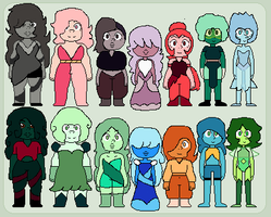 Gemsona Adopts ((12 points each)) by Asexual-Senpai