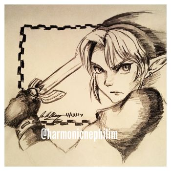 Link in Action by kirstenmarquisart