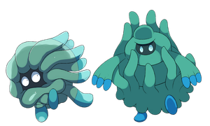 Alolan Tangela and Tangrowth by Phatmon