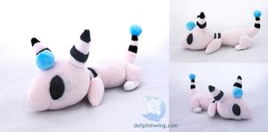 Poketime Shiny Ampharos Beanie Plush by dollphinwing