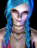 LOL Jinx 1 (The sims3) by tyrblue