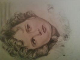 Shirley Temple drawing by CreatingMyOwnWorld
