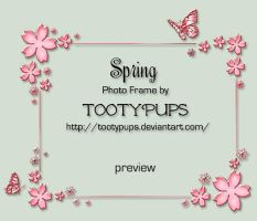 Spring Photo Frame by TootyPups