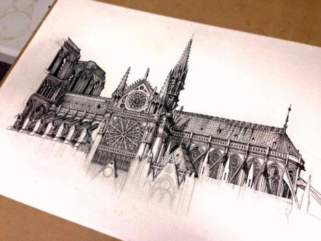 Notre Dame Cathedral from another perspective by hipple25