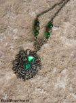 Green butterfly by BlackWings-jewelry