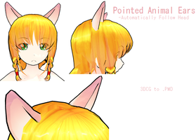 MMD- Pointed Animal Ears - DL by MMDFakewings18