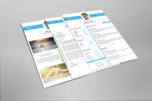 Clean and Minimal Resume Set V-02 by maruf1