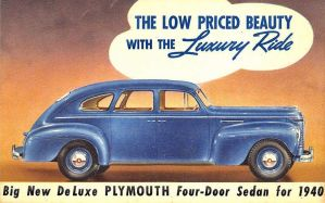1940 Plymouth 4-Door by Yesterdays-Paper
