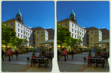 Downtown Dresden 3-D / CrossView / Stereoscopy HDR by zour