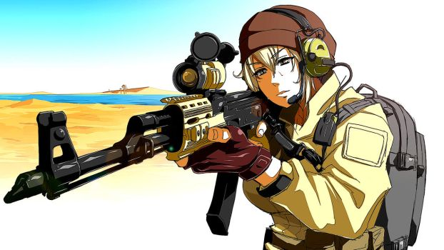 26292 Anime Girls Anime Girls With Guns Edited  by nayster24