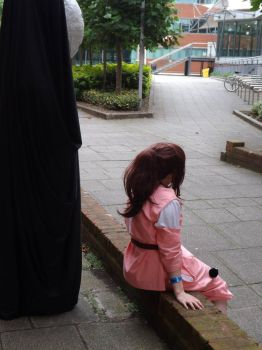Spirited Away - chihiro and no face by hoppinmadbek