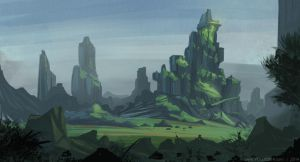 Green Scape by YogFingers
