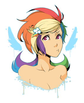 rainbow dash with cutie mark clip by ssenarrya