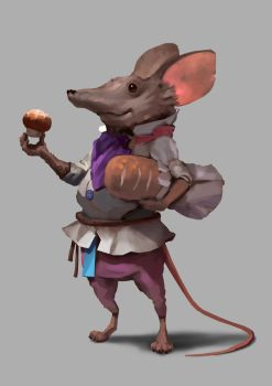 Baker Mouse Painting by JohnoftheNorth