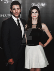 Jensen Ackles and Alexandra Daddario by Angelita9188