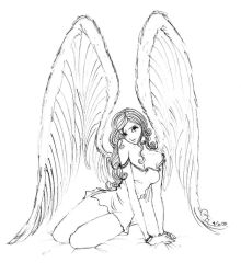 Angel on your bed I by finieramos