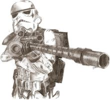 Stormtrooper by HunterTheShadow