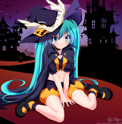 Miku Halloween 01BG by Shugo19
