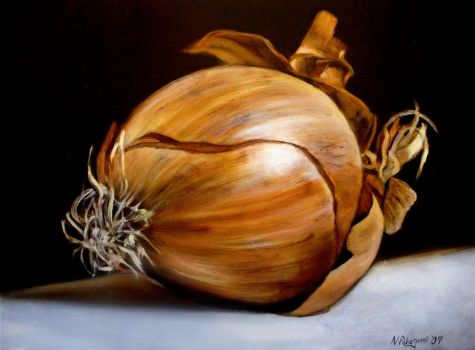 Still Life with Onion by nicolepellegrini